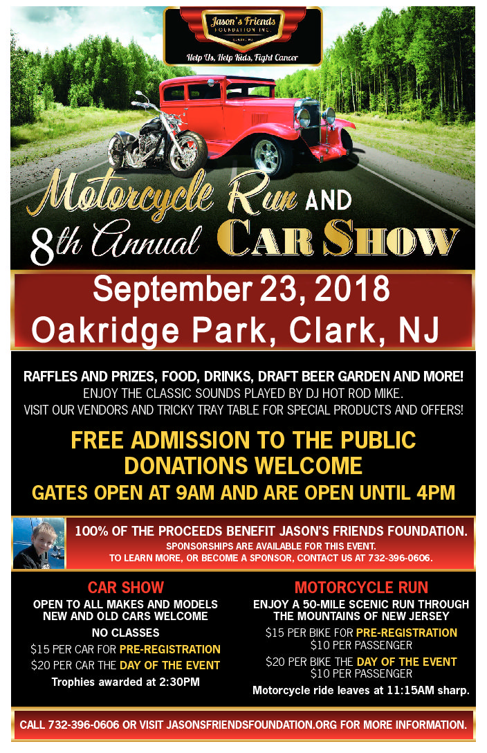 Car Show And Motorcycle Run - Car shows in nj